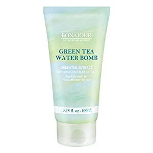 [BONAJOUR]Green Tea Natural Moisturizing Cream for dry and sensitive skin, Best Face Moisturizer 3.38 Fl. oz