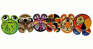 Hefty Zoo Pals Rainforest Plates-1 package of 20 Plates- 7.37 inch (Discontinued by Manufacturer)