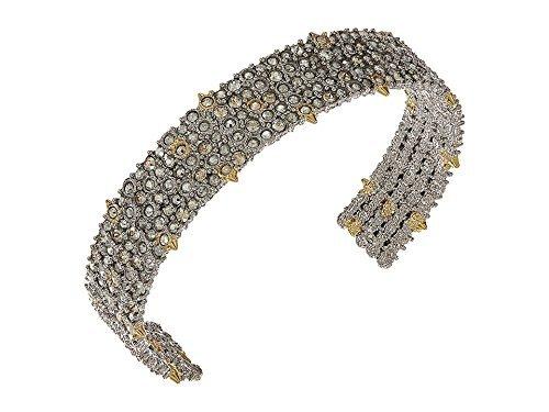 Alexis Bittar Women's Crystal Lace Cuff Bracelet Rhodium/10K Gold One Size