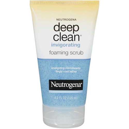 Johnson & Johnson 05021 Neutrogena Skin Care Invigorating Foaming Scrub, 4.2 fl. oz. Volume (Pack of 12)