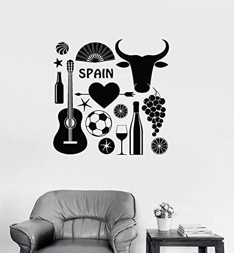 jtxqe Vinilos Puertas Vinilos Decorativos de Vinilo España España Flamenco Corrida de toros Alcohol Interior Europeo salón dormio decoración 57x57cm: Amazon.es: Hogar