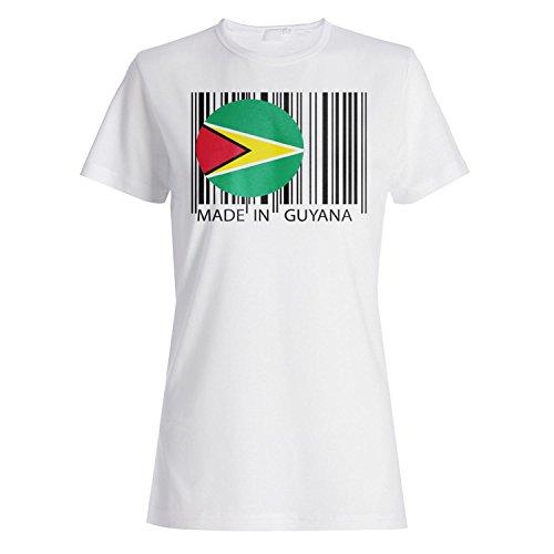 Gemacht in Guyana Reise Welt lustige Neuheit Damen T-shirt uu10f