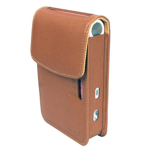 Atout Premium Vintage Synthetic Leather Cover Case [Brown] for LG PD239 Pocket Photo Printer Case