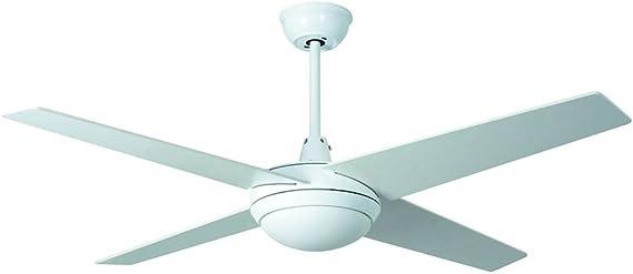 Ventilador de techo con luz LED MPC Marinada Blanco 4 alas mpcshop ...