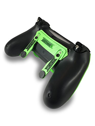 PS4 Elite Controller with Back Paddles & Trigger Stops - Custom Controller Electric Green Soft Touch Grip Custom Controller Dual Trigger Attachments  Perfect for Esports Tournaments & Competitions!
