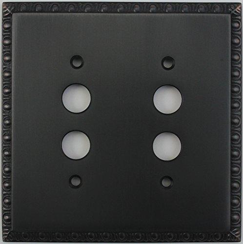 (Egg & Dart Oil Rubbed Bronze 2 Gang Push Button Light Switch)
