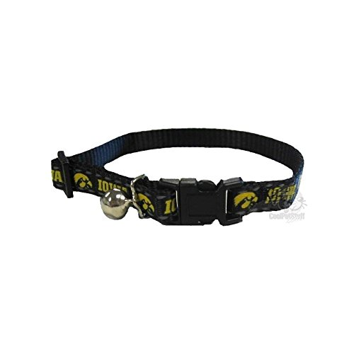 Pet Goods Manufacturing NCAA Iowa Hawkeyes Cat Collar, 3/8 x 8-12'' by Pet Goods Manufacturing