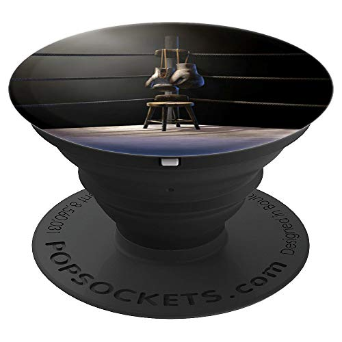 (Boxing Gloves and Stool in Boxing Ring - PopSockets Grip and Stand for Phones and Tablets)
