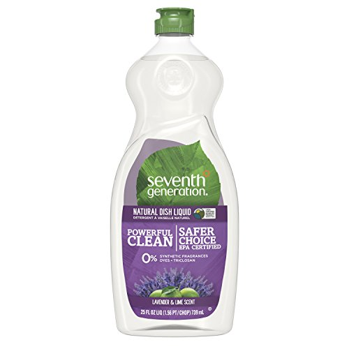 Seventh Generation Dish Liquid Soap, Lavender & Lime Scent, 25 oz, Pack of 6 (Packaging May Vary)