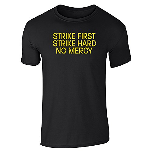Strike First Hard No Mercy Cobra Kai Karate Kid Black M Short Sleeve T-Shirt ()