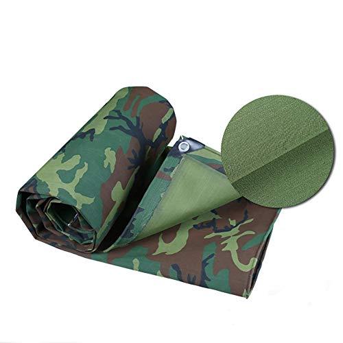 Carl Artbay Camping Tent Tarpaulin, Weatherproof, Tear Resistant Sunscreen Anti UV Sunshade,Outdoor Windproof Tarp,Heavy Duty Camouflage Truck Dust Cover with Metal Eyelets,500g Tarpaulin