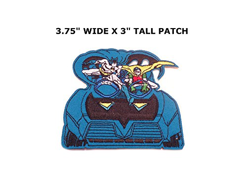 [Athena Superhero DC Batmobile (Batman / Robin) Logo Easy Iron or Sew-on Embroidered Cartoon Comics Movie Theme Applique Patch] (Imperial Guard Costume Warhammer 40k)