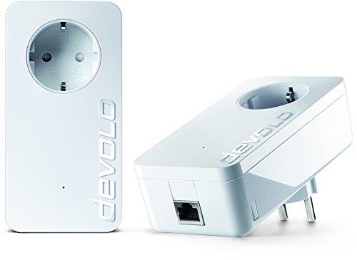 devolo dLAN 1200+ Starter Kit (1200 Mbit/s, Steckdose, Datenfilter, 1 GB LAN Port, Powerline) weiß