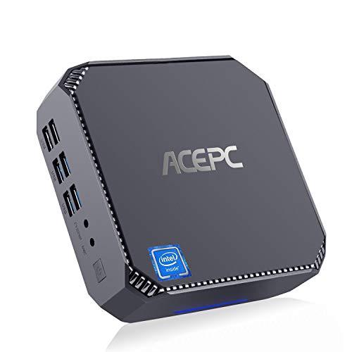 Mini PC, ACEPC CK2 Intel Core i5-7200U Windows 10 Pro Micro Desktop Computer, Upgradeable 8GB RAM+128GB SSD, VGA+HDMI…