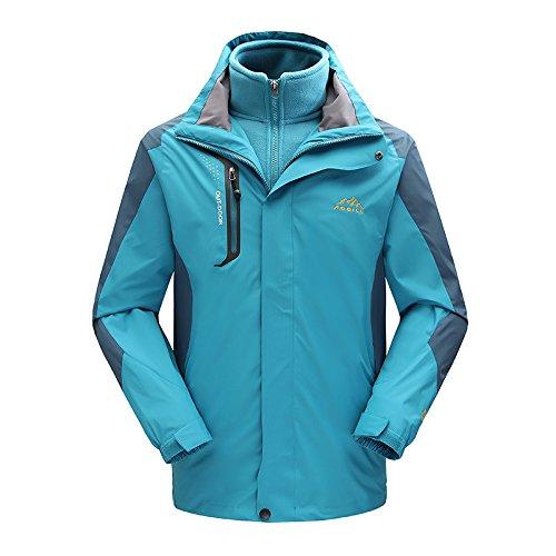 MEI&S El hombre/mujer ski 3en1 Impermeable Chaqueta polar Tops extraíble escalada exterior Coat,