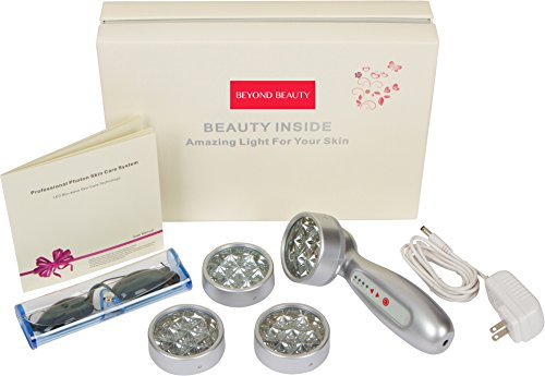 Device, Red, Blue, Green & Yellow Lights For Wrinkles, Anti Aging, Skin Whitening & Collagen Production w/ 4 heads PROVEN to Work!  (Led Target Lights)