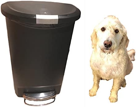 Dog Proof Trash Can Locking 13 Gallon Kitchen Rubbish Foot Step Tall With  Lock Lid Garage U0026 EBook By OISTRIA