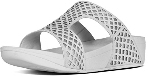 FitFlop Mujer pantufla White Silver