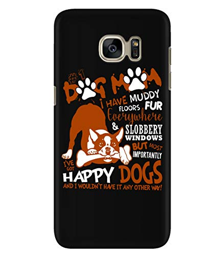 (Design for Samsung Galaxy S7 Case, Dog Mom Samsung Case, Muddy Floors Galaxy S7 Case (Samsung Galaxy S7 Case -)