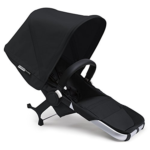 Bugaboo Donkey2 Duo Extension Set, Black/Black - Expand from a Single to a Double Stroller. Includes Duo Extension Adapter, a Toddler Seat, Sun Canopy & Rain Cover!