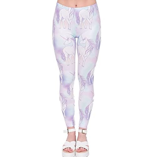 Discount Eelivero Printed Leggings Basic Cheap Patterned Leggings Yoga Workout Leggings Women Girls Spandex Leggings for cheap
