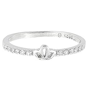 Aurora Women's Silver White Gold Plated Ring