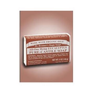 Dr. Bronner s Magic Soaps Pure Castile Bar Soap, Eucalyptus 5 oz 5 pack