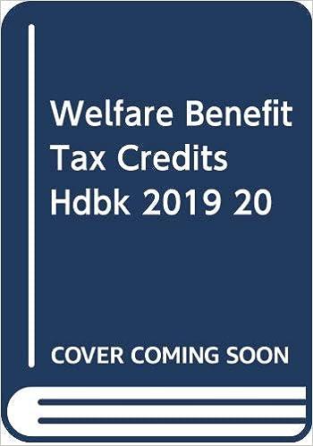 Tax credits 2019