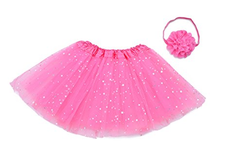 Lubin Tutu Skirt Girls Kids Party Ballet Dance Pettiskirt Clothes Dress With Headband(Deep (Little Stars Dance Costumes)