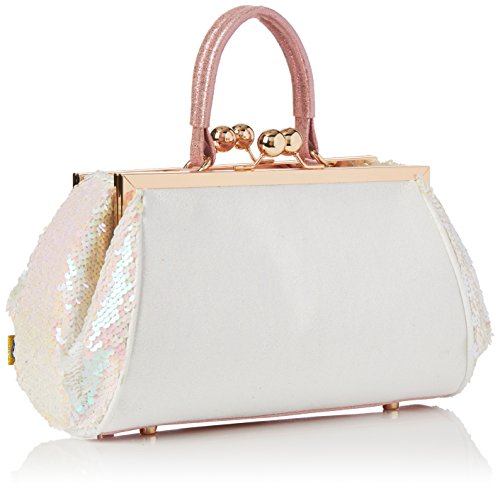 Irregular Floral main Blanc Sacs Bag Choice Jus Sayin White portés rHrZSqT