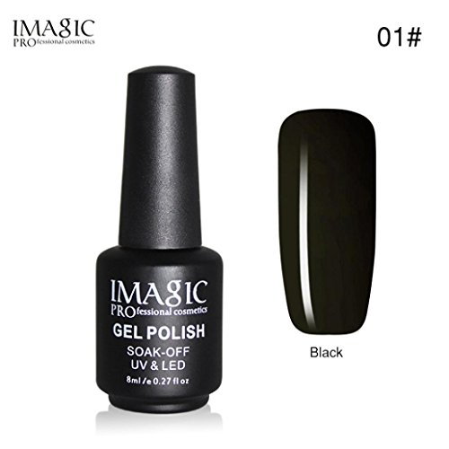 Oksale® Black Bottle 8ML Gel Nail Polish Art Nail Gel UV LE