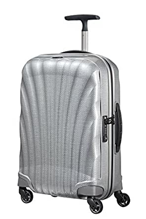 Samsonite 73349 Cosmo lite 3 Spinner Hard Side Luggage, Silver, 55 Centimeters