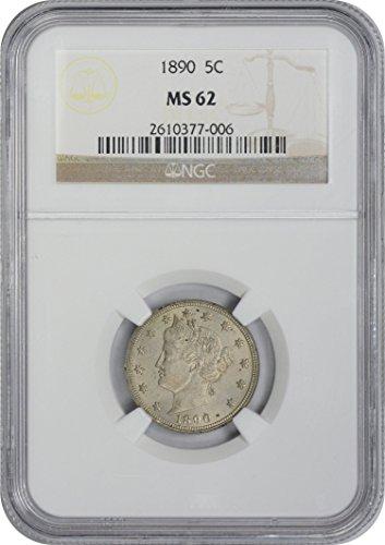 Ms62 Nickels (1890 Liberty Nickel MS62 NGC)