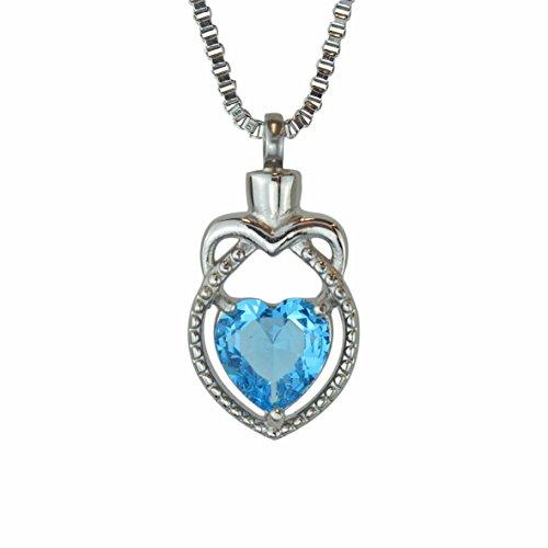 Majestic Urn - Majestic Crystal Heart Urn Pendant Necklace - Memorial Ash Keepsake - Cremation Jewelry