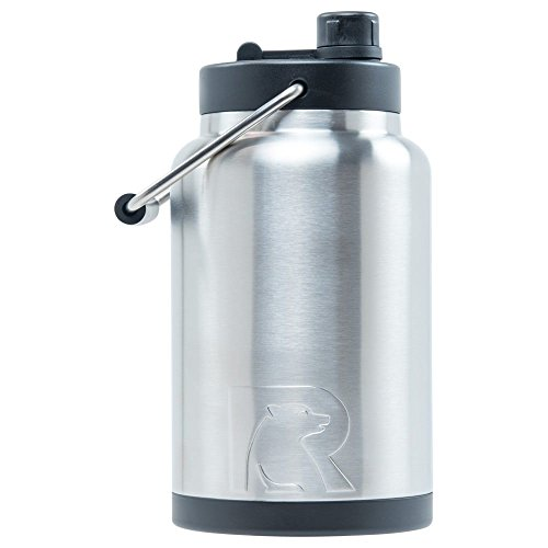 0.5 Gallon Beverage - RTIC Double Wall Vacuum Insulated Stainless Steel Jug (Stainless Steel, Half Gallon)
