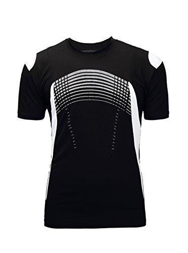 Alipolo Mens Lightweight UPF 50+Swim Shirt Loose-Fit Swim Tee Sports Running Short Tees Black XX-Large