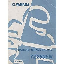 2001 YAMAHA MOTORCYCLE YZ250FN OWNER'S SERVICE MANUAL LIT-11626-14-46 (493)