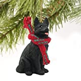 German Shepherd Miniature Dog Ornament - Black