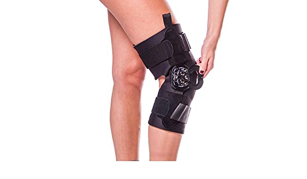 30b09c7690 Amazon.com: Hyperextension Knee Brace for Recovery & Prevention-XL: Health  & Personal Care
