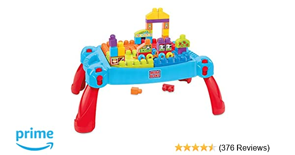 Mega Bloks First Builders Build N Learn Table Amazon Exclusive