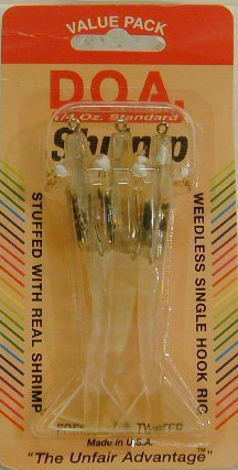 "DOA FSH3-3P/312 Shrimp 3"" Near Clear 3Pk"