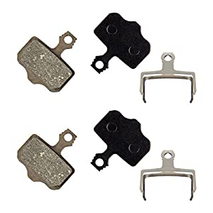 PAMASE 2 Pairs Bike Disc Brake Pads for Shimano Deore Avid Elixir Sram Tektro, Bicycle Resin Semi Metallic Brake Pads