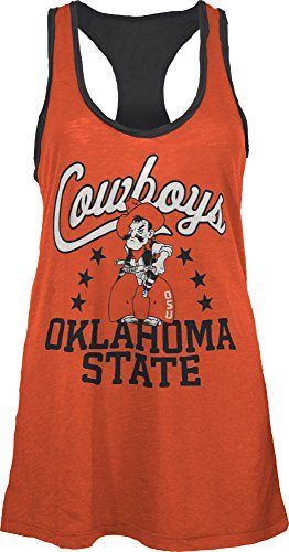 Three Square by Royce Apparel NCAA Oklahoma State Cowboys Nelly Tank, Small, Orange (Oklahoma State Square)