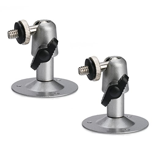 HDE Swivel Wall Ball Head Mount Bracket for CCTV Security Camera (2 pack)