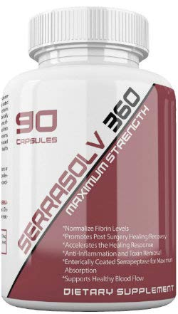 Extra Strength Scar Tissue Package (Limited Offer) Dissolve Scar Tissue Quickly - Highly Potent Scar Tissue Dissolving Enzyme Blend - Serrapeptase, Nattokinase & More - Serrasolv 360, Cap (90) by Trebinase (Image #5)