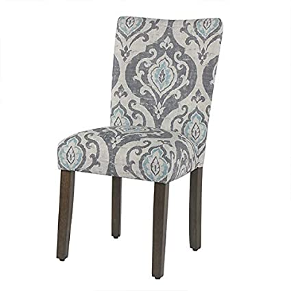 Homepop Parsons Classic Upholstered Accent Dining Chair Set Of 2 Suri Blue