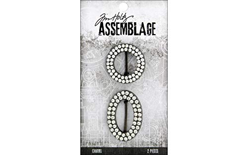 Advantus THA20137 Tim Holtz Assemblage Charms 2/Pkg Round & Oval Jeweled Frames Multi