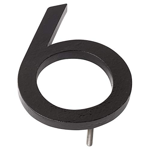 Montague Metal Products MHN-12-6-F-BK1 Floating House Number, 12'' x 8.75'' x 0.375'' Black by Montague Metal Products (Image #3)