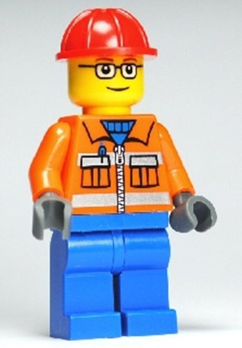 amazon com construction worker lego minifigure 5 toys games