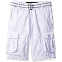Southpole Boys' Belted Mini Canvas Cargo Shorts in Various Colors